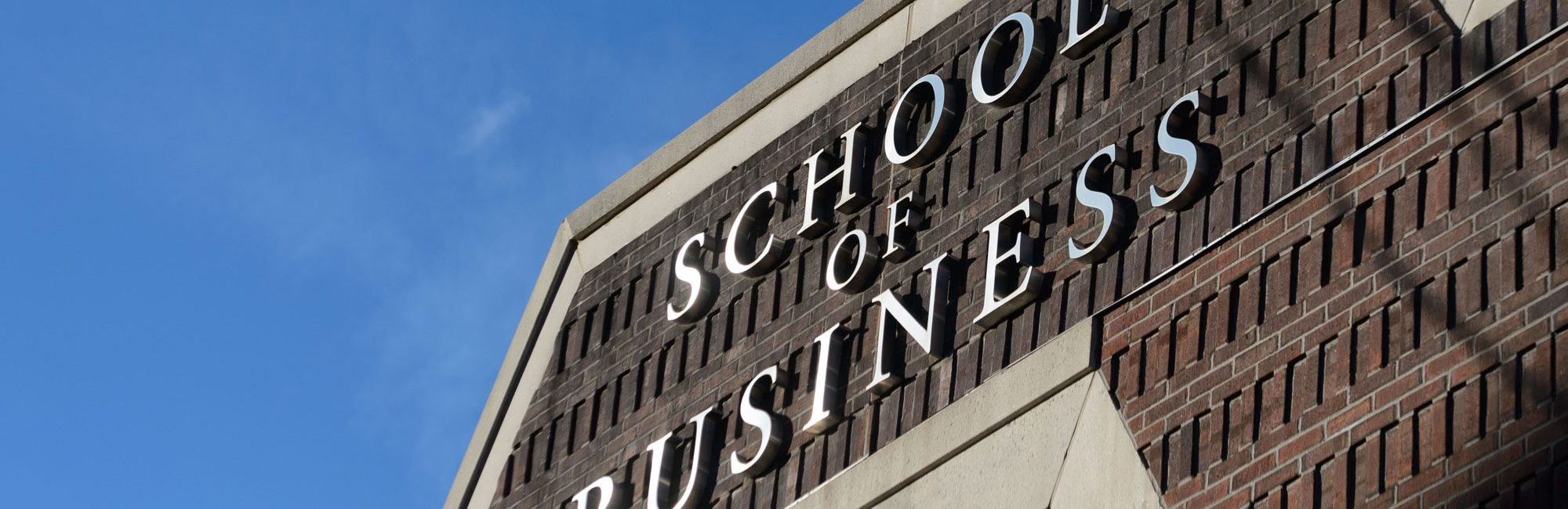 UConn Online Master of Science in Accounting: Image of UConn School of Business Sign